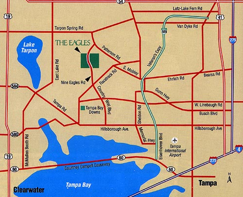 Odessa Florida Map The Eagles Golf Club   Odessa, Florida   Tampa Bay