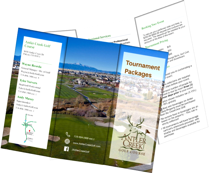 Tournament & Event Packages │ Antler Creek Golf Course