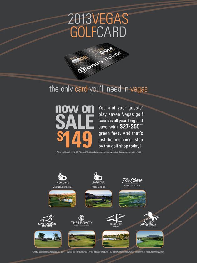 CLICK HERE for more info on the OB Sports Golf Card - Las Vegas