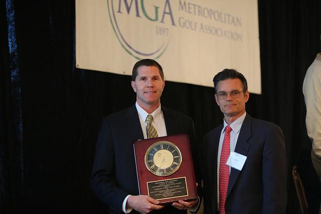 Darrell Marcinek receiving award at MGA Greens Chairman Seminar