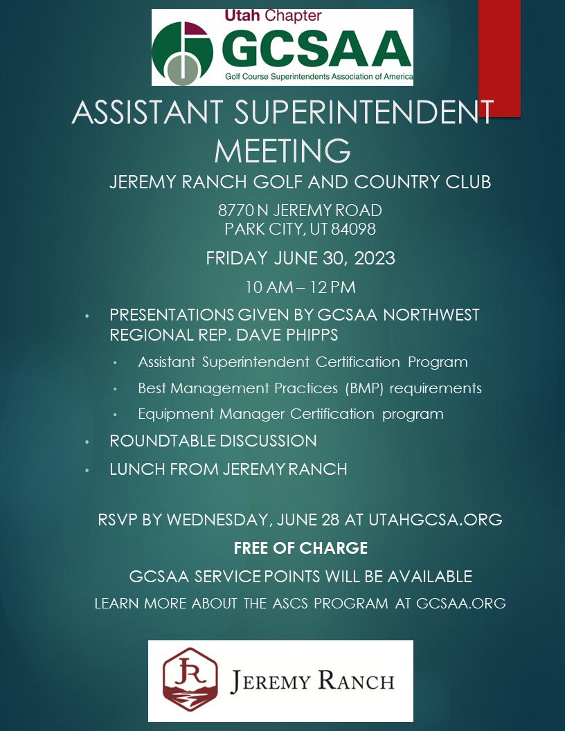 Ugcsa Utah Golf Course Superintendents Association Murray Ut