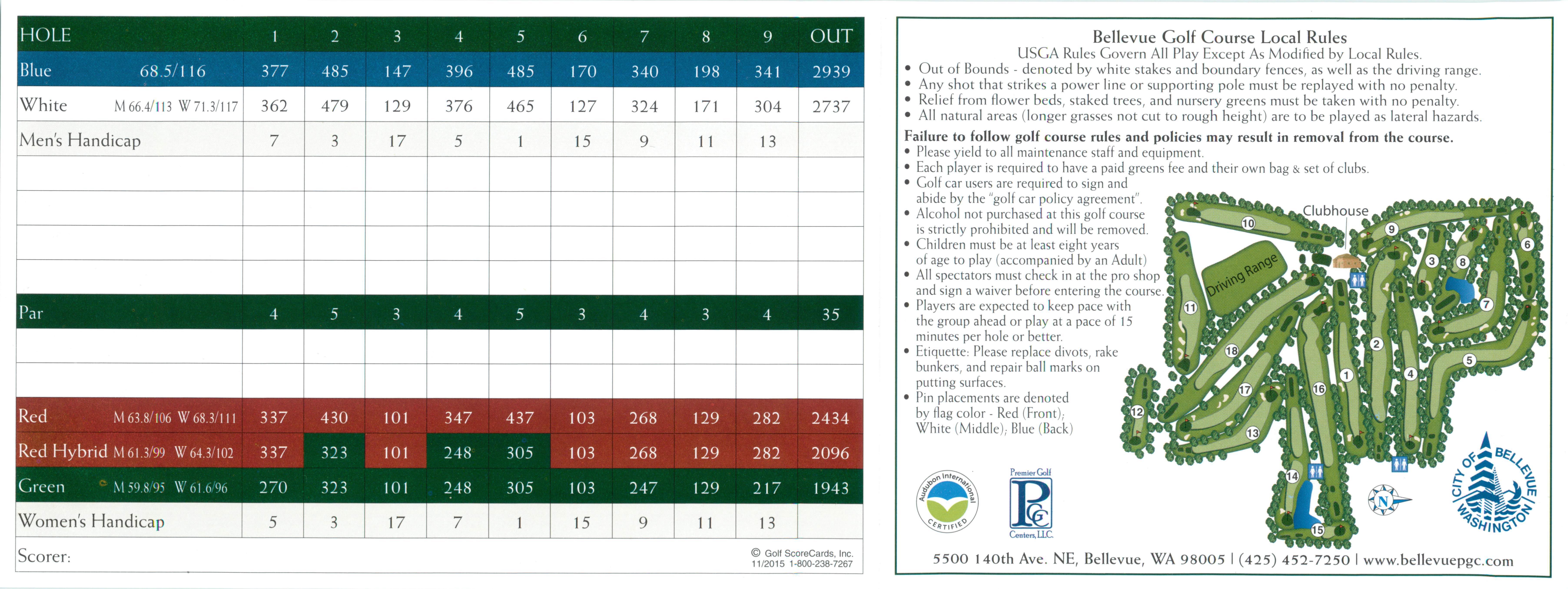 2017 Bellevue Scorecard