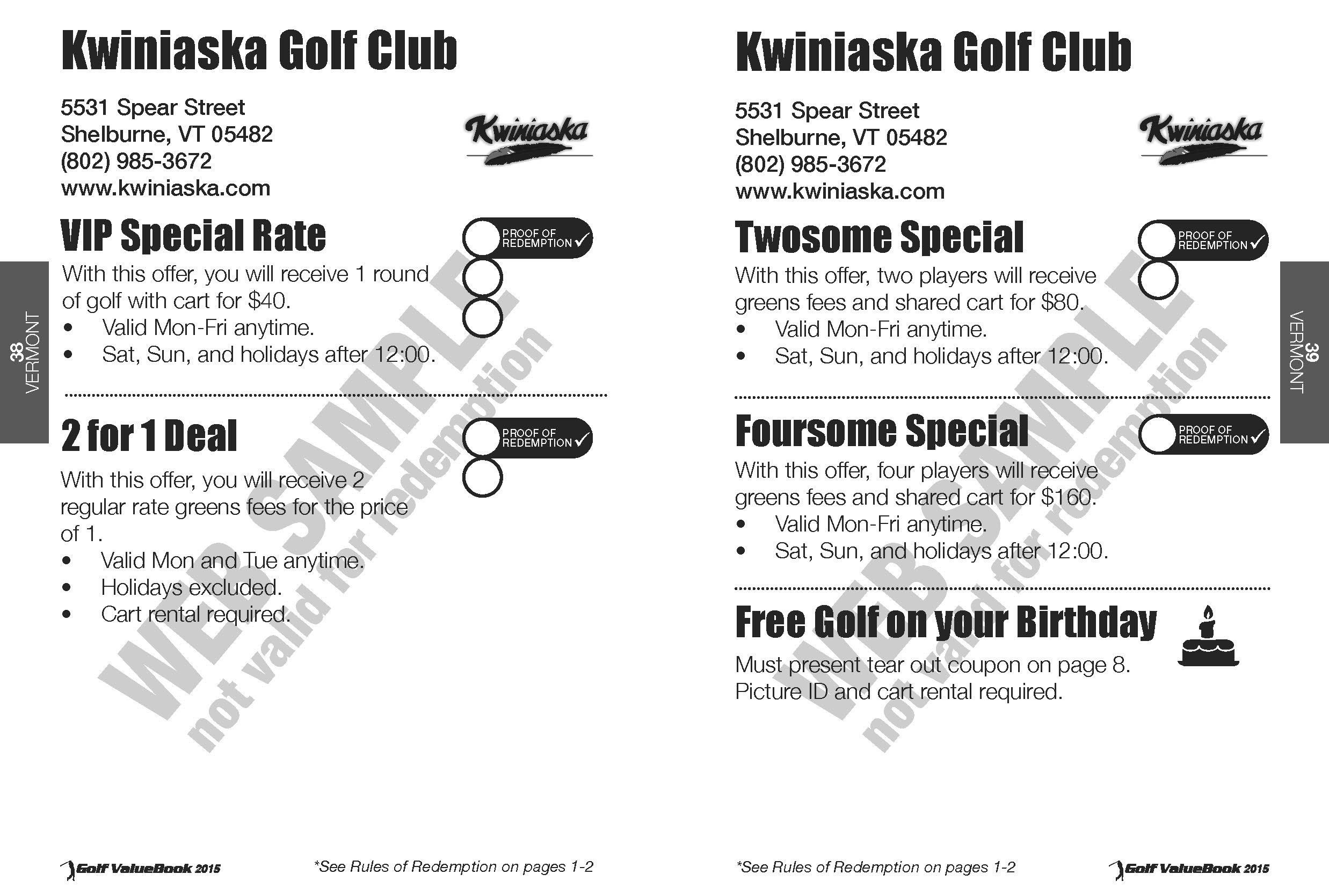 golf value book