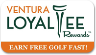 Ventura LoyalTee Rewards Earn Free Golf Fast Header Logo