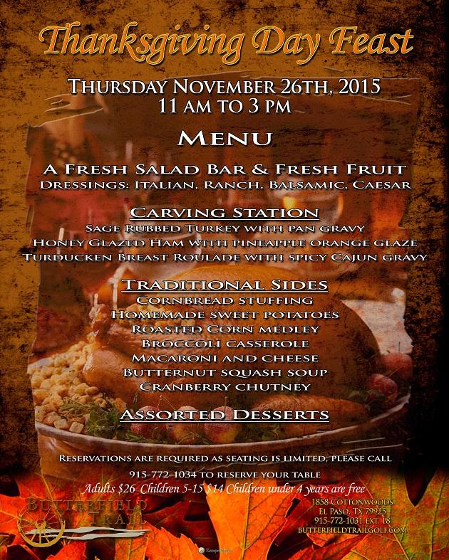 Thanksgiving Brunch In El Paso - November 22