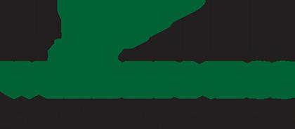 The Wilderness at Lake Jackson Black and Green Info Block Logo