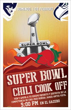 Super Bowl 2015 & Chili Cook Off en Caparra