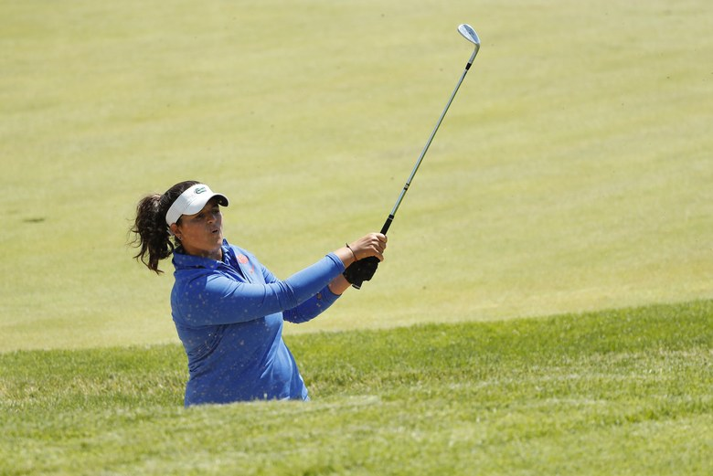 Steve Woltmann SUGAR GROVE, IL - MAY 22: Maria Torres of Florida in action during the Division I Women's Golf Individual Championship held at Rich Harvest Farms on May 22, 2017 in Sugar Grove, Illinois. (Photo by Steve Woltmann/NCAA Photos via Getty Images)