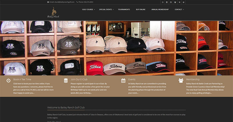 Bailey Ranch Golf Club Responsive Web Design Sample Image