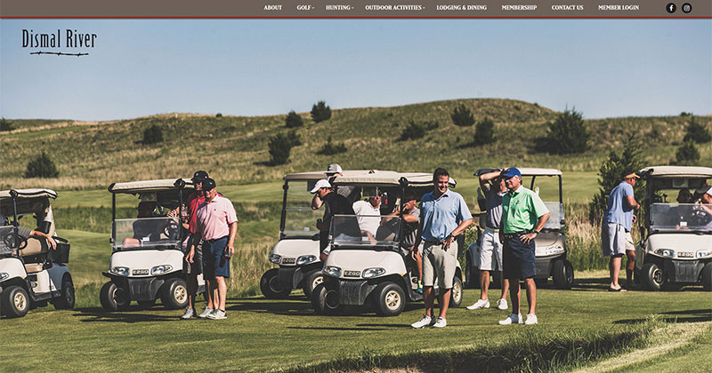 Dismal River Club Responsive Web Design Sample Image