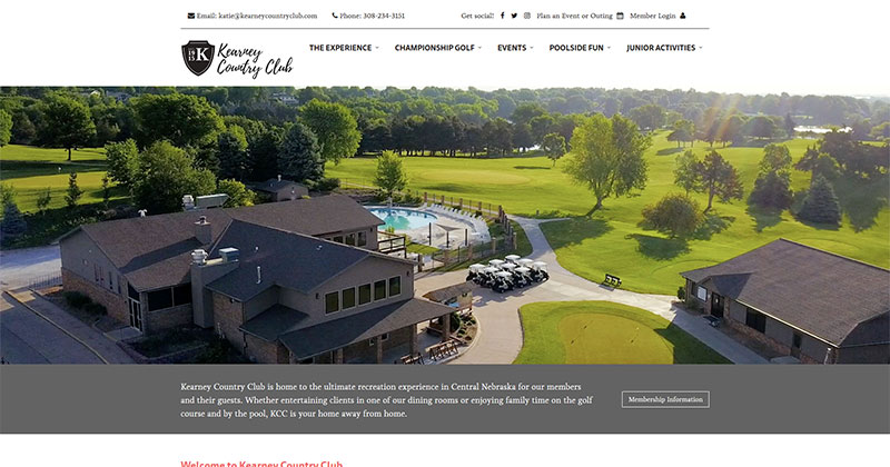 Kearney Country Club Responsive Web Design Sample Image