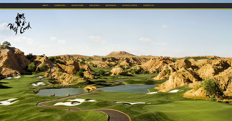 Wolf Creek Golf Club Responsive Web Design Sample Image