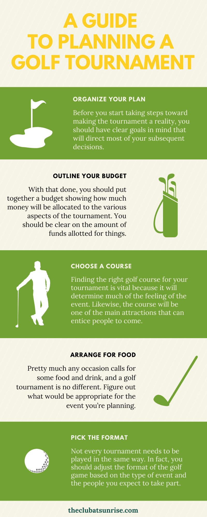 Planning a Golf Tournament