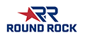 Round Rock - The Sports Capital of Texas - Footer Logo - White Text