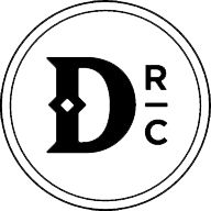 Dismal River Club Monogram Black Footer Logo