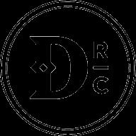 Dismal River Club Monogram Black Footer Logo