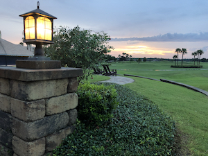 LPGA International sunset over the golf course photo