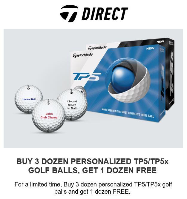 Foster Golf Links - TaylorMade Golf Ball Offer