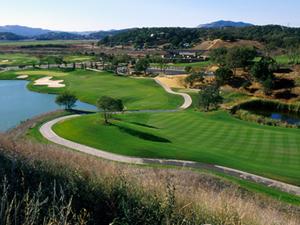 Stonetree Golf Course, #9 from #8 tee, Novato, CA
