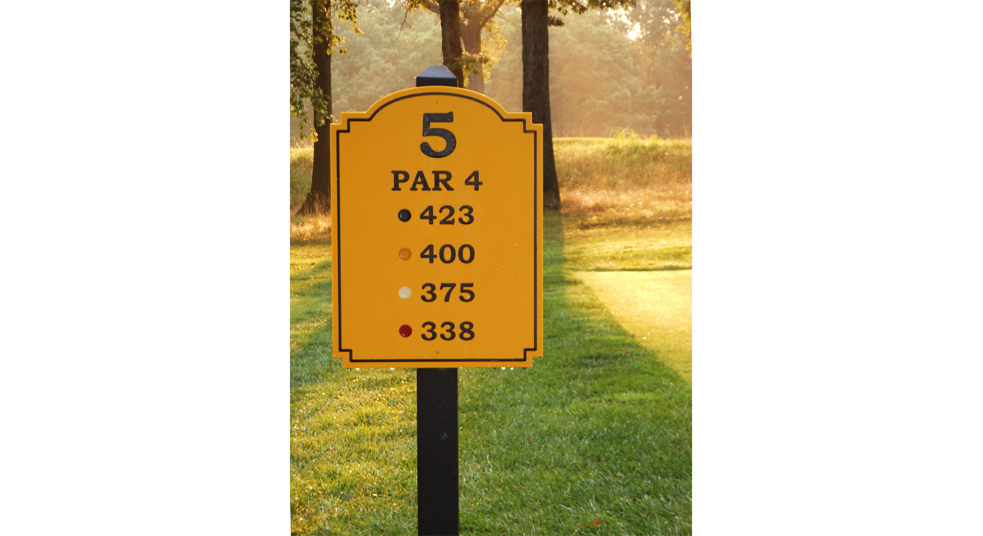 Hole Signs with Yardages