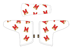 PRG putter headcover white with dancing M logo