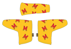 PRG Gold headcover with dancing M logo