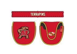 Putter Mallet Headcover Red with Testudo Logo