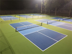 Photo night view of lighted Pickleball Courts