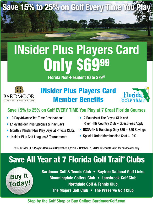 Image INsider Plus Players Card Promotional Flyer - To view text version go to http://www.bardmoorgolf.com/-insider-plus-text-only