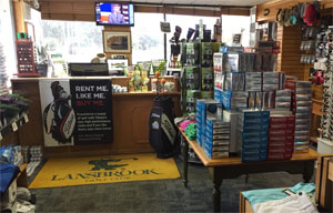 Photo 2 Lansbrook Golf Shop interior showing Golf Balls and displays
