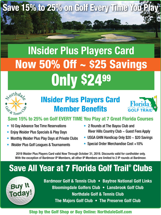 Image INsider Plus Players Card Promotional Flyer - To view text version go to http://www.northdalegolf.com/-insider-plus-text-only