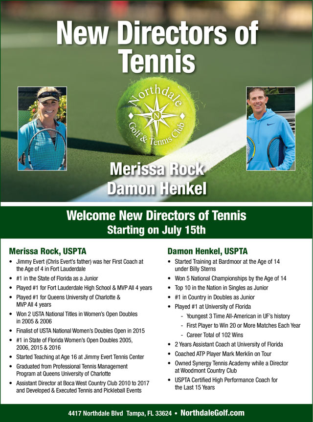 Flyer introducing the Tennis Directors