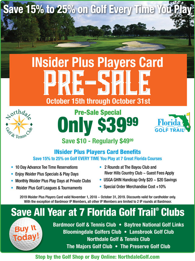 Image INsider Plus Players Card PRE-SALE  Promotional Flyer - To view text version Click below