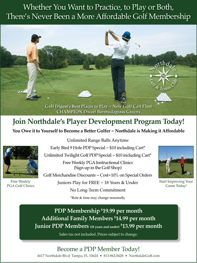 Image Player Development Program Promotional Flyer - To view text version go to http://www.northdalegolf.com/-player-development-program-text-only