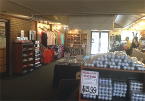 Photo Northdale Golf Shop interior showing Shirts Hats and Golf Balls