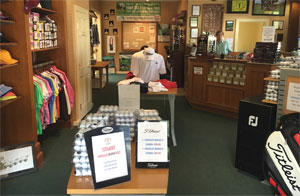 Photo 1 Baytree National Golf Shop interior showing Shirts Hats and Golf Balls