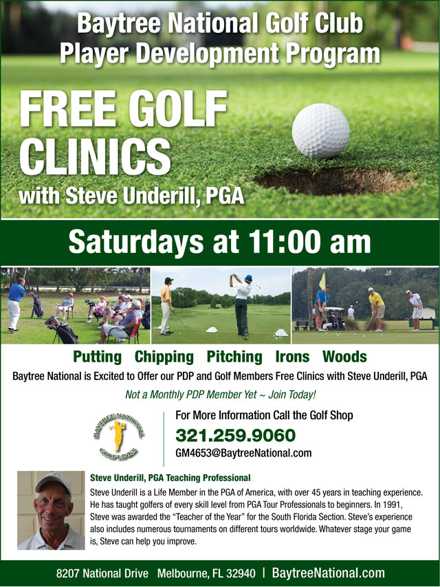 Image Player Development Free Clinics Promotional Flyer - To view text version go to http://www.baytreenational.com/-player-development-program-text-only