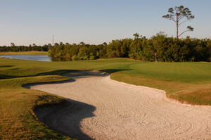 Baytree National Golf Hole 1 with Sand Trap Photo
