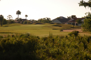 Baytree National Golf Hole 4 Fairway with Flag Stick in Distance Photo