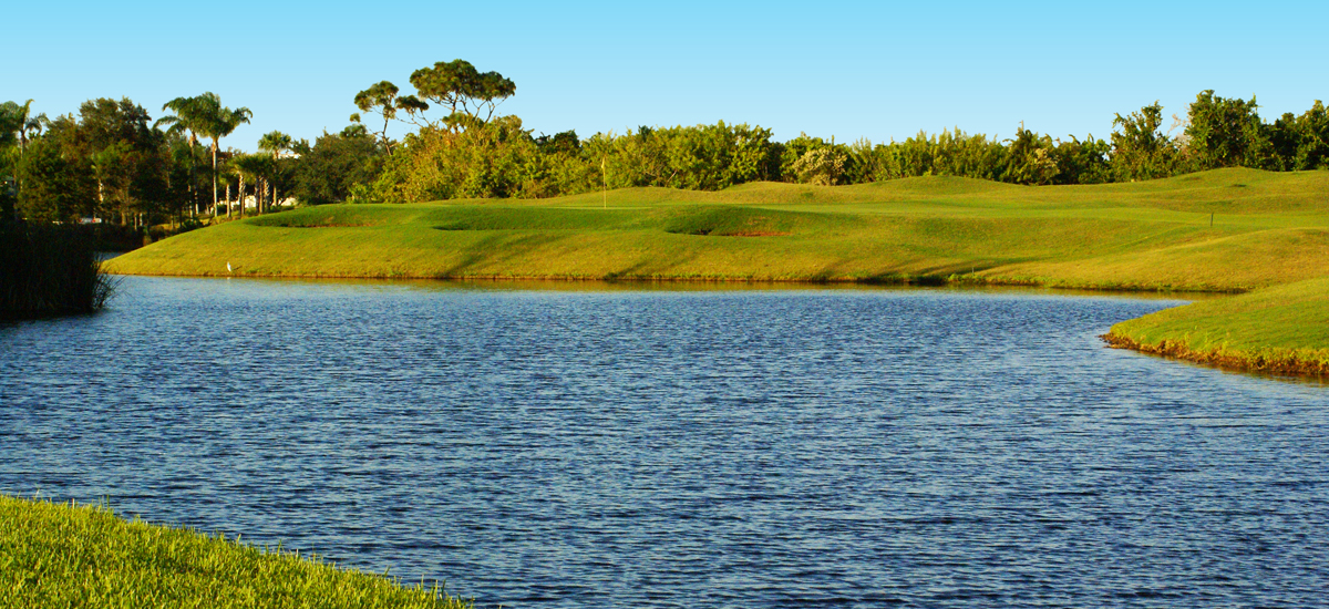 Photo Header Baytree National Hole 5 Green Surrounded by Water