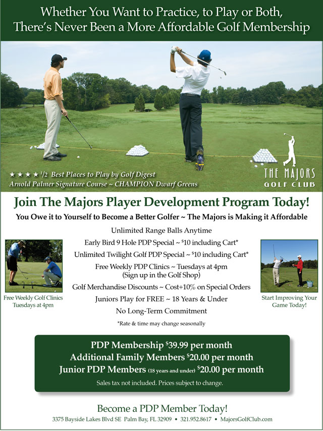 Image Player Development Program Promotional Flyer - To view text version go to http://www.majorsgolfclub.com/-player-development-program-text-only
