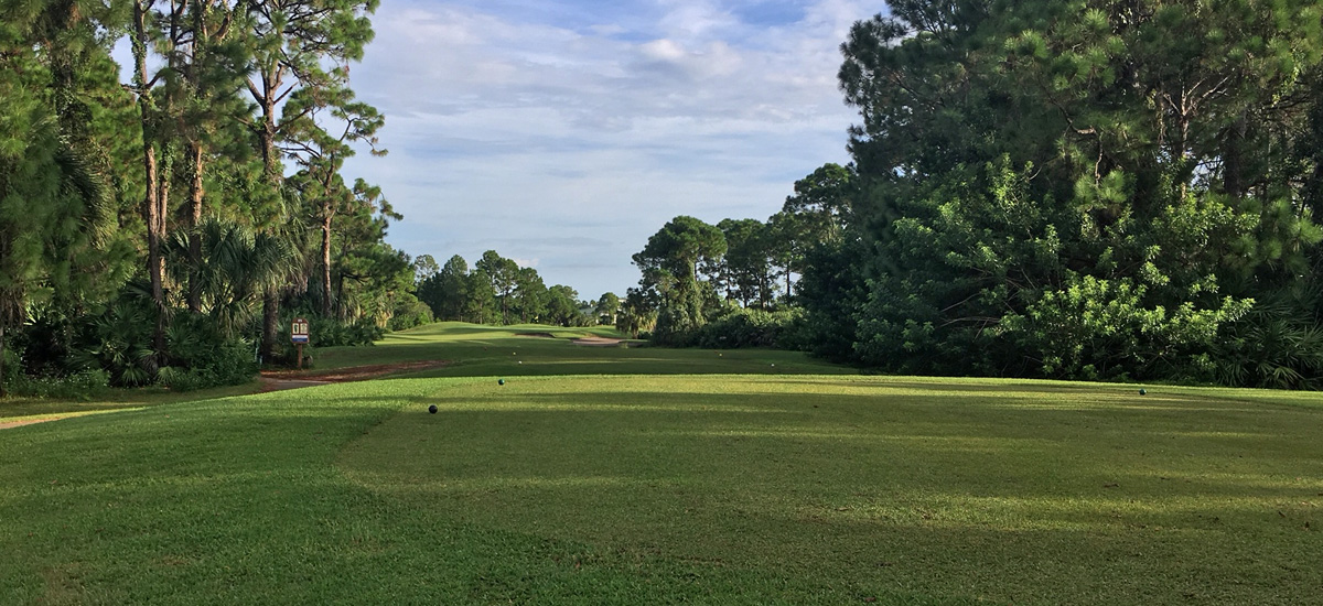 Photo Header The Majors Hole 11 fairway view from tee to green