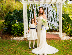 Generic Photo of Bride and Flower Girl