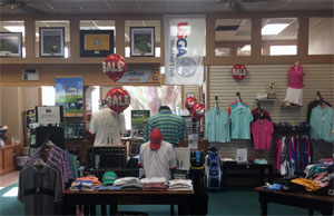 Photo - River Hills Golf Shop hats and shirts