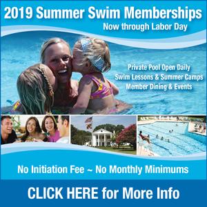 Banner for NGC 2019 Swim Membership Memorial Day through Labor Day. Call 301-292-1100 for full details