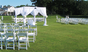 Photo - Outdoor wedding set up