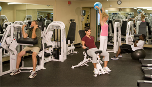 Photo of gym with people working out