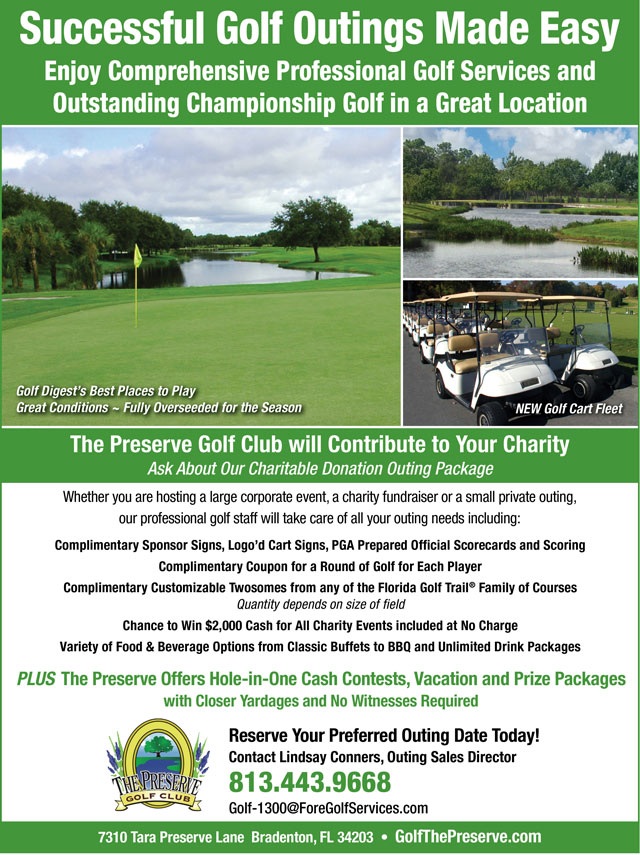 Image Outings Promotional Flyer - To view text version go to http://www.golfthepreserve.com/-outings-text-only
