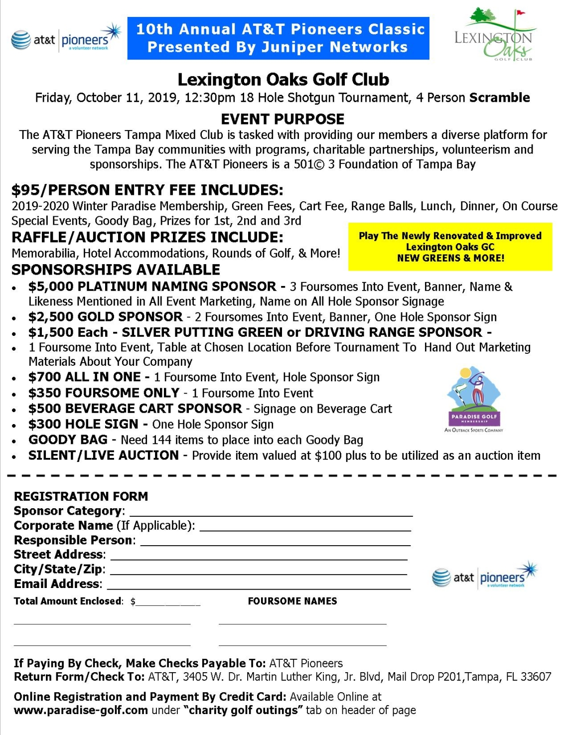AT&T Pioneers Charity Golf Outing, Fri, Oct 11, 2019