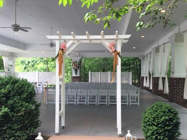 An outside wedding at our location
